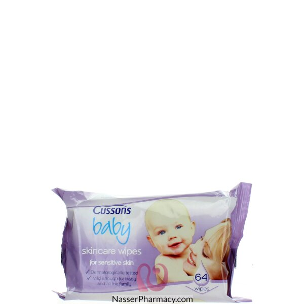 Cussons Baby Wipes Sensitive 64s