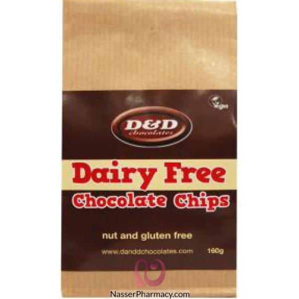 دي اند دي D & D رقائق شوكولاته خالية من الألبان والجيلوتين 160 جرام