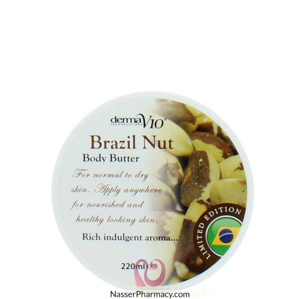 Derma V10 Body Butter Brazil Nut 220ml