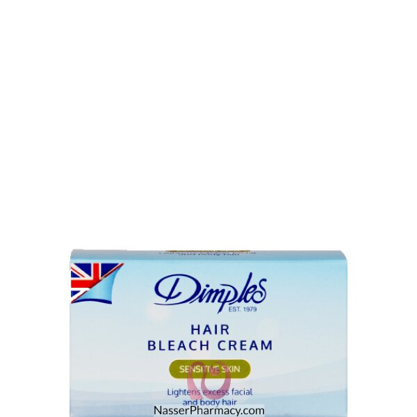 ديمبلز Dimples كريم تببيض وتخفيف نمو الشعر للبشرة العادية والحساسة 40 جرام.
