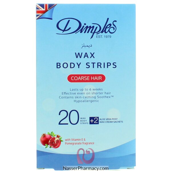 Dimples Body Wax Strips Coarse  Hair 10's Doubles
