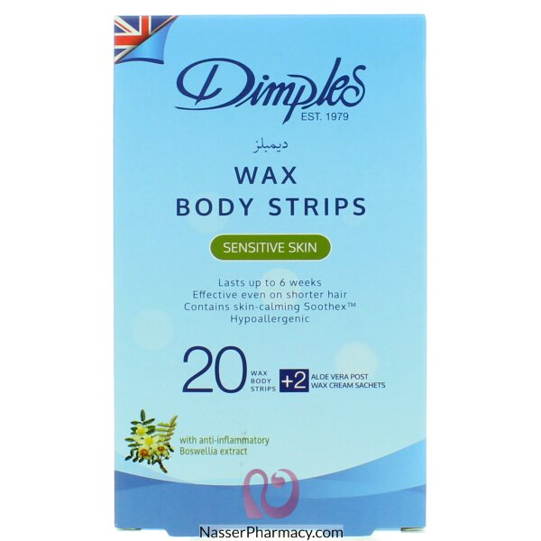 Dimples Body Wax Strips Sensitive   Skin 10's Doubles