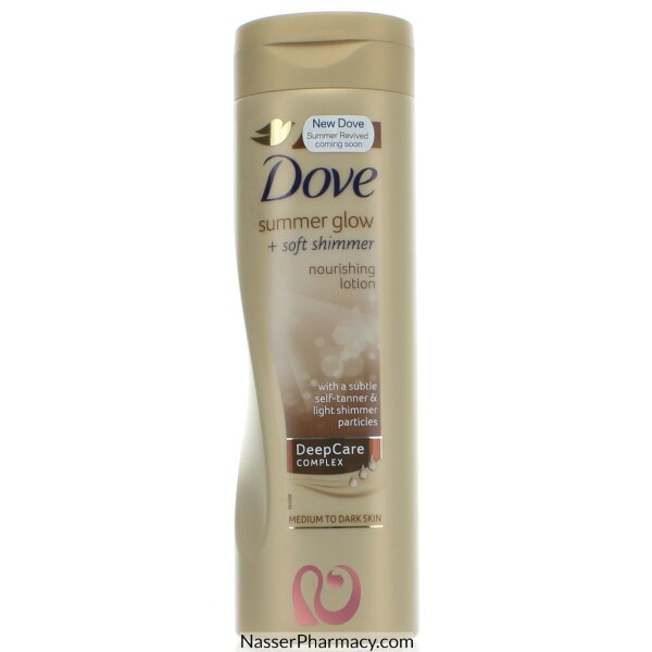 Dove Body Lotion Summer Glow+shimmer Self Tanning- 250ml