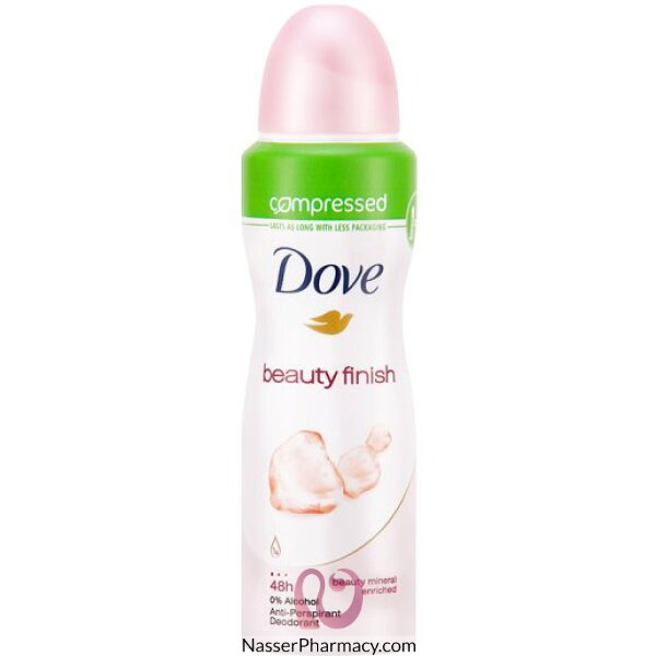 Dove Compressed Antiperspirant  Beauty Finish 125ml