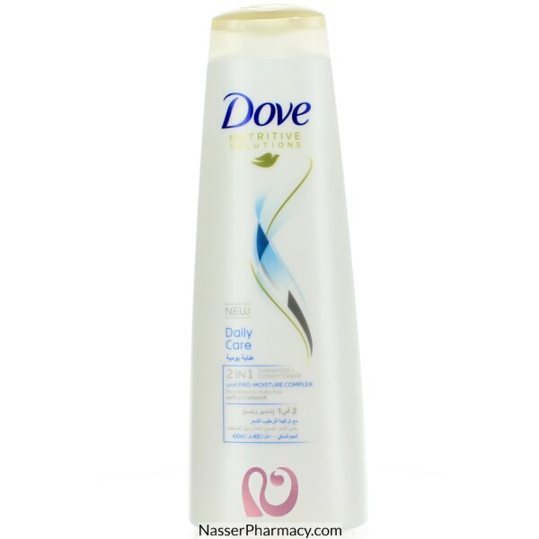 Dove Daily Care 2in1 Shampoo All Hair Types 400ml