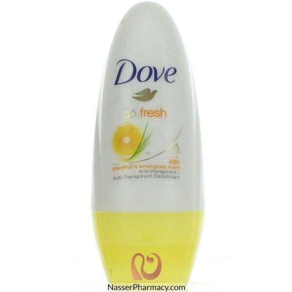 Dove Deoderant Roll On Fresh Grape Fruit & Lemongrass - 50 Ml