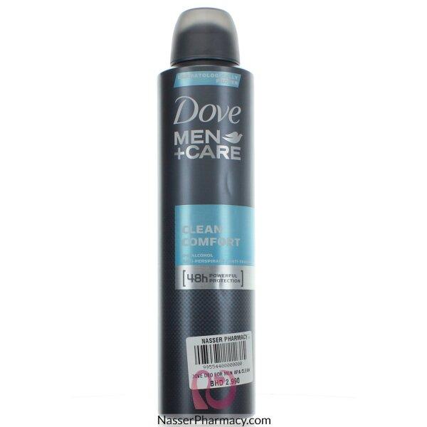 Dove Deodorant For Men Clean Comfort - 250ml
