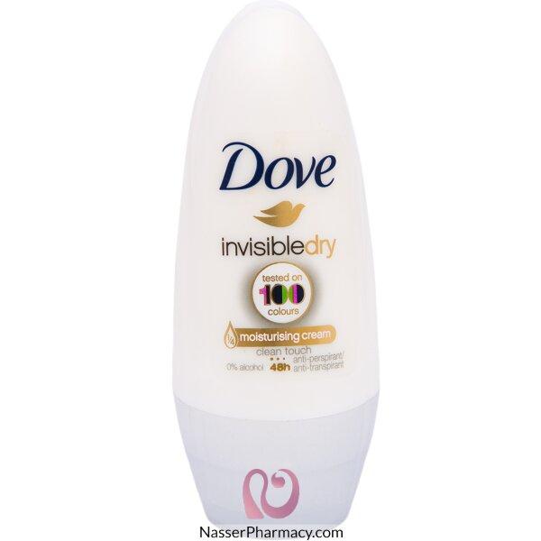 Dove Deodorant Roll On Invisible - 50ml