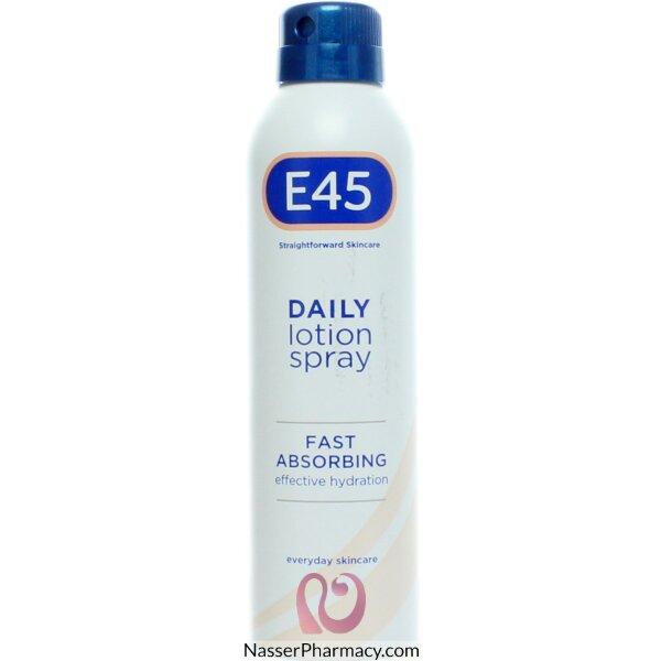اي E45  سبراي لوشن يومي مرطب للبشرة 200 مل