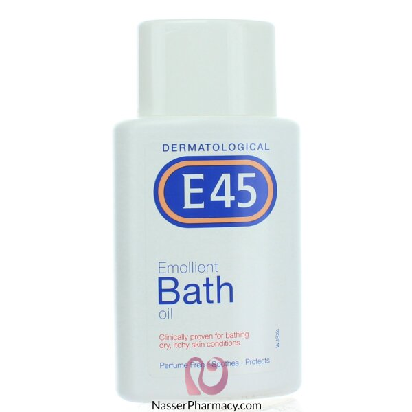 E45 Emollient Bath Oil For Dry Skin Itchy Skin-250ml