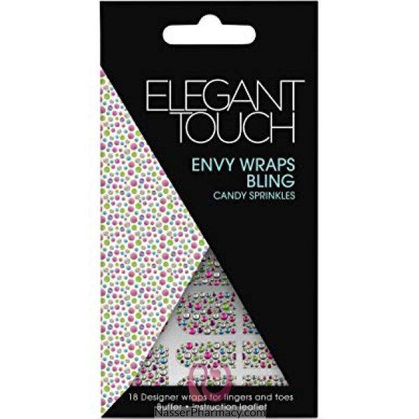 اليجانت تاتش Elegant Touch لاصقات أظافر Envy Wraps Bling- Candy