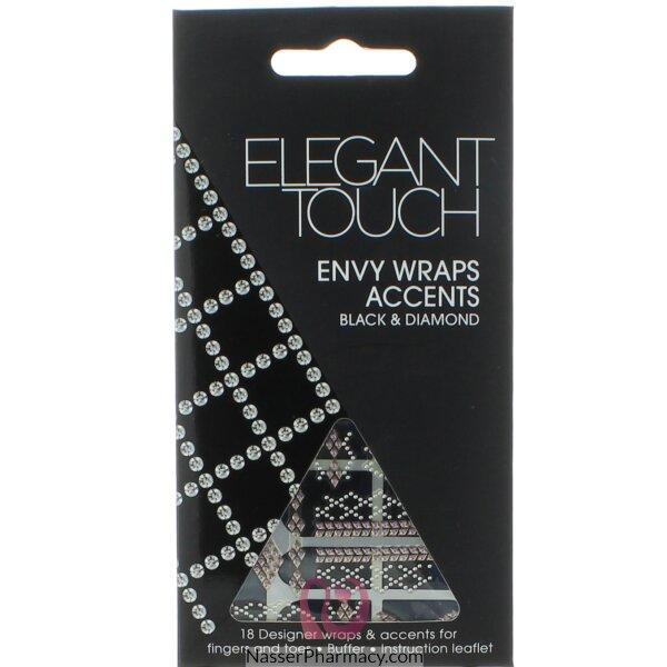 ايلجنت تاتش Elegant Touch  لاصقات أظافر أسود و ماس
