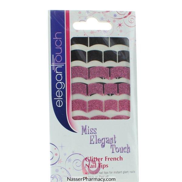 ايليجانت تاتش  Elegant Touch أطراف لعمل طلاء الأظافر الفرنسي -glitter