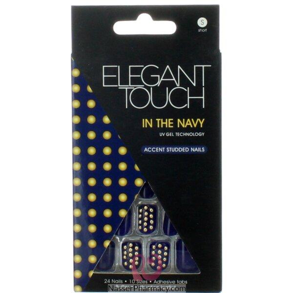 ايليجانت تاتش Elegant Touch  أظافر لاصقة -adorned Navy