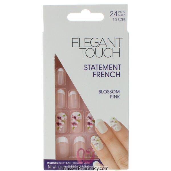 ايليجانت تاتش Elegant Touch  أظافر لاصقة - French Blossom Pink