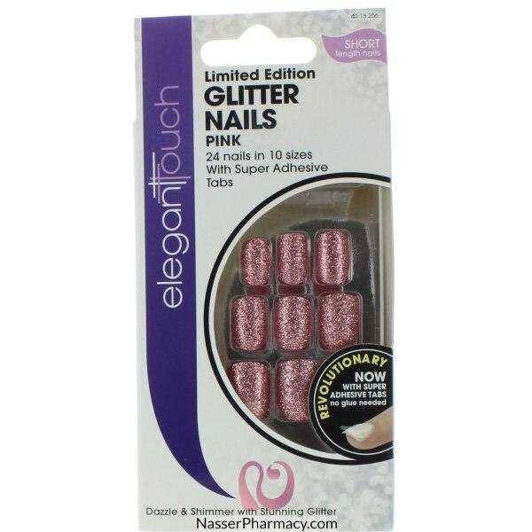 ايليجانت تاتش Elegant Touch  أظافر لاصقة - Glitter Pink