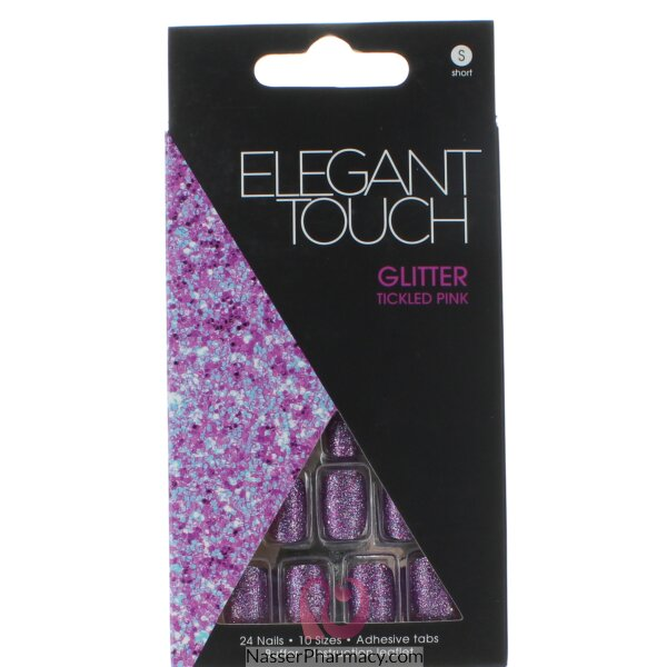 ايليجانت تاتش Elegant Touch  أظافر لاصقة -glitter Tickled Pink