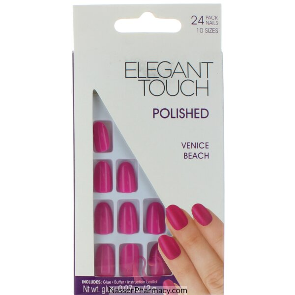 ايليجانت تاتش Elegant Touch  أظافر لاصقة -venice Beach Purple