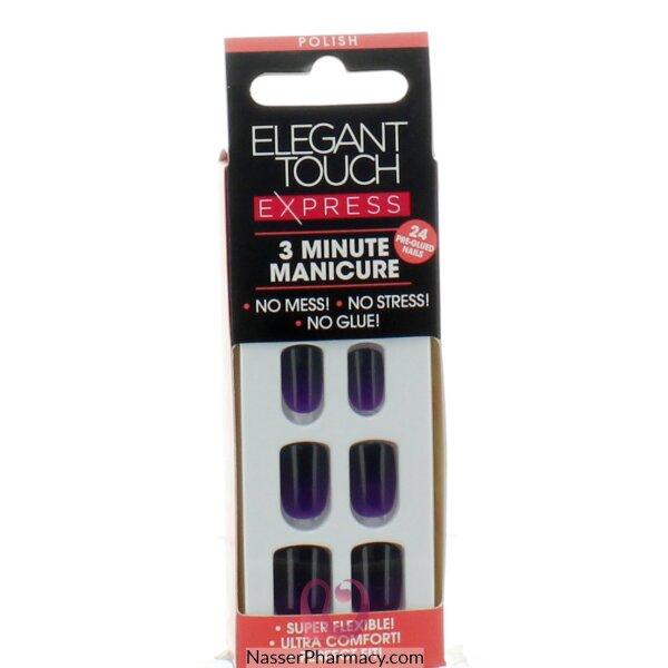 ايليجانت تاتش Elegant Touch  Express   أظافر لاصقة -polished Dirty Purple