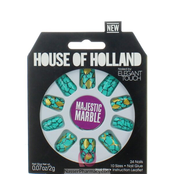 ايليجانت تاتش   Elegant Touch House Of Holland أظافر لاصقة -   Majestic Marble