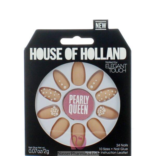 ايليجانت تاتش Elegant Touch  House Of Holland أظافر لاصقة -pearly Queen