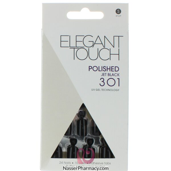 ايليجانت تاتش   Elegant Touch Polish أظافر لاصقة -onochrome Madness Black