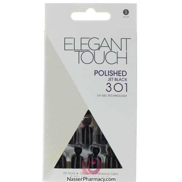 ايليجانت تاتش   Elegant Touch Polish أظافر لاصقة -onochrome Madness Black