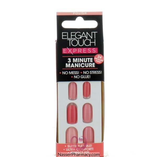 ايليجانت تاتش Elegant Touch  Polish أظافر لاصقة - (raspberry Ombre (oval