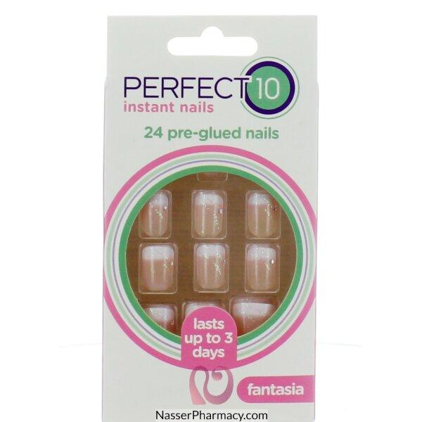 ايليجانت تاتش Elegant Touch Protect 10  أظافر لاصقة - Glued Fantasia Pink