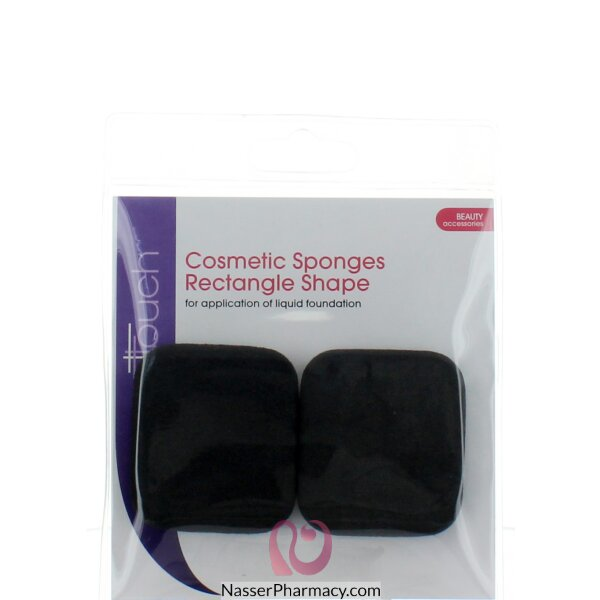 Elegant Touch Cosmetic Sponges (rectangles X 2)