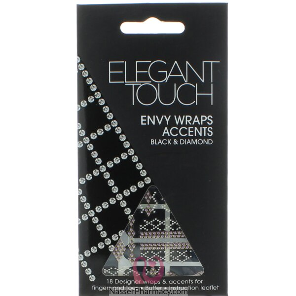 Elegant Touch Envy Wraps Accents Black & Diamond