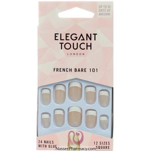 Elegant Touch  Natural French Nails - 101 (m)