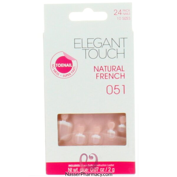 Elegant Touch  Natural French Toenail - 051