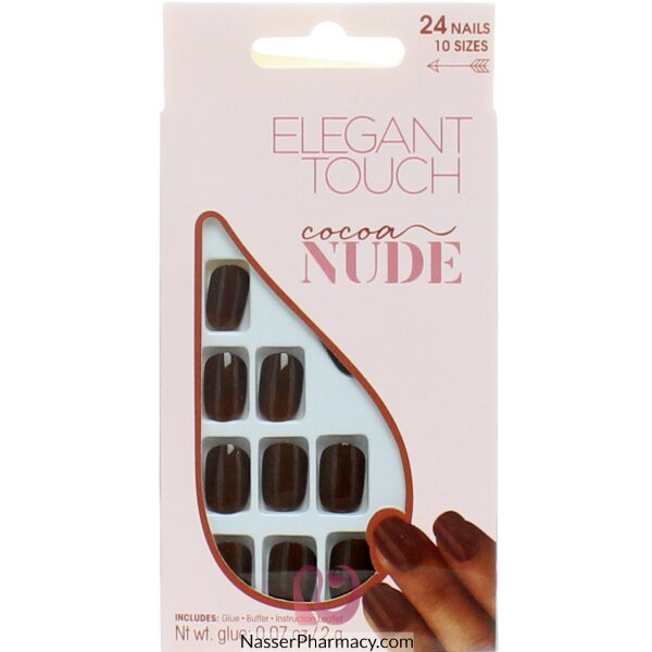 Elegant Touch Nude Nails Cocoa