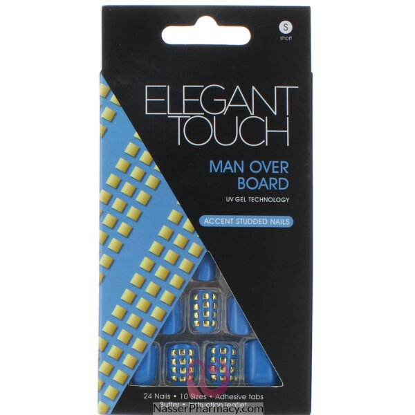 Elegant Touch Trend Nails-adorned Blue