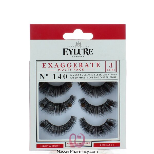 Eylure Exaggerate No. 140 Multipack