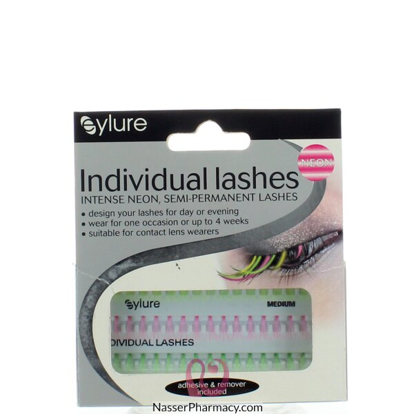 Eylure Individual Lashes Medium Length Intense Neon