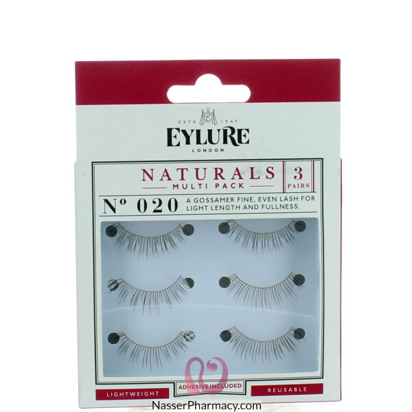Eylure Naturalites False Eyelashes Multi-pack- Volume (020)
