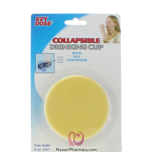 Pill Collapsible Drinking Cup With Pill Container