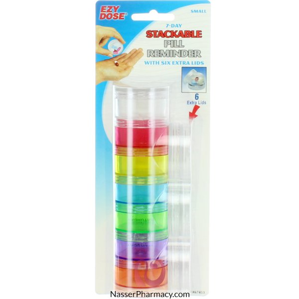 Stackable W/6 Extra Lids 6/72 - 67453