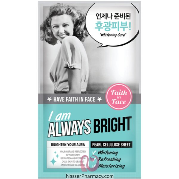 Faith In Face- I Am Always Bright Sheet Mask.