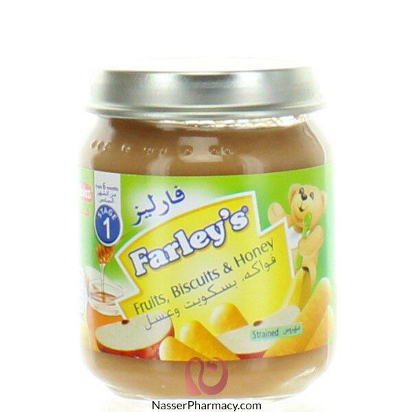 فارليز  Farley's مهروس الفواكة  والبسكويت والعسل - 120 جم  (من الشهر السادس )