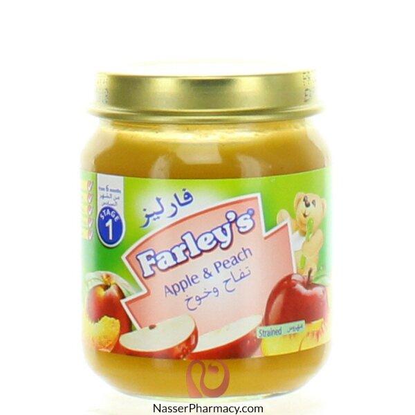 فاريلز  Farley's مهروس التفاح والخوخ 120 جرام  (من الشهر السادس )