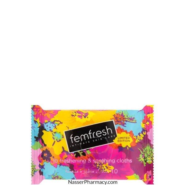 Femfresh Travel Wipes Cloth 10s