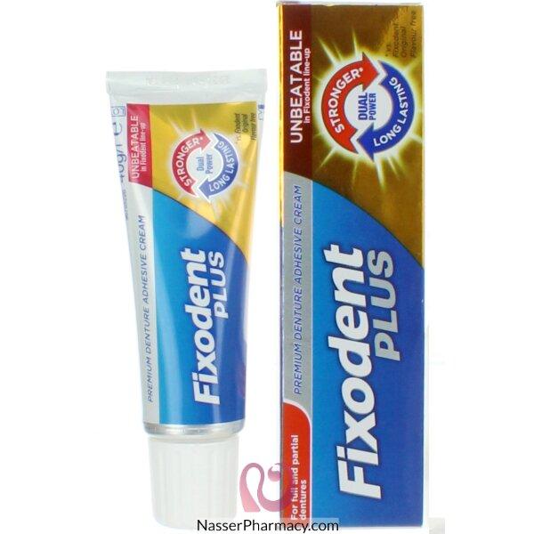 فيكسودنت بلس Fixodent Plus  كريم مثبت لأطقم الأسنان بفعالية مزدوجة 40 جرام