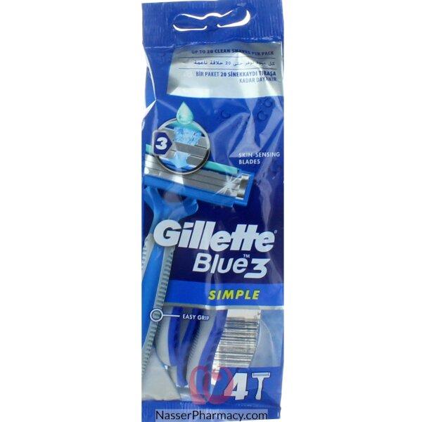 Giiiette Blue Razor 3 Simple 4  Bag