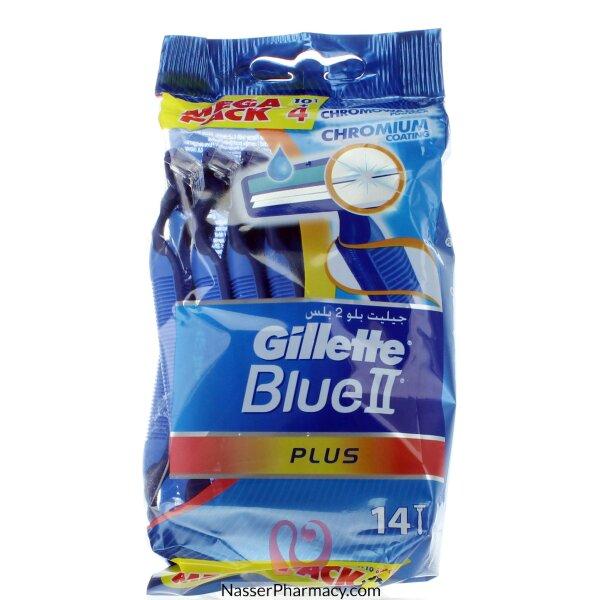 Gillette Blue Ii Plus - 10 + 4 Pieces