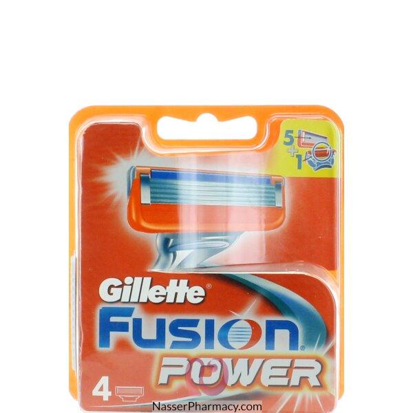 Gillette Fusion Power Cartridge - 4 Pieces