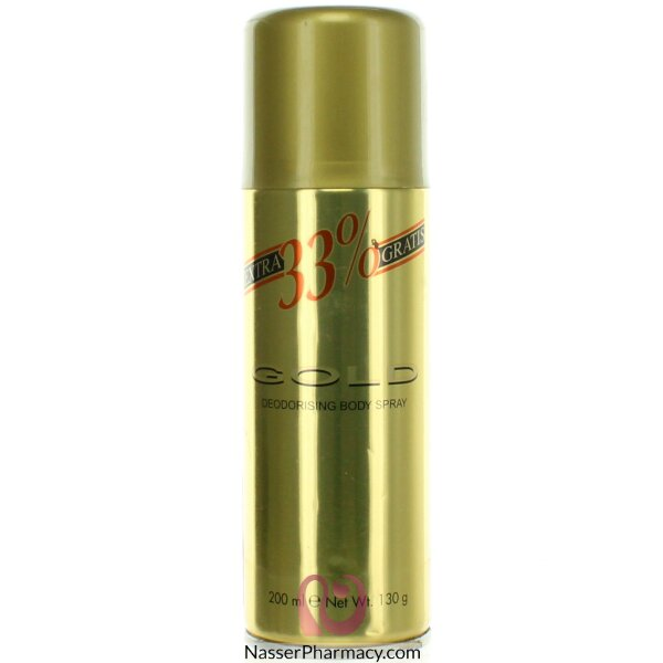 Gold Body Spray 33% Extra Free 200ml-38817
