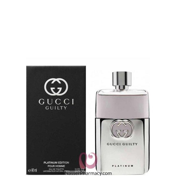 Gucci Guilty Pour Homme Platinum For Men - 90 Ml